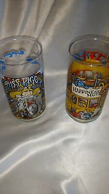 The Great Muppet Caper 1981 McDonald's Drinking Glasses Set of 2