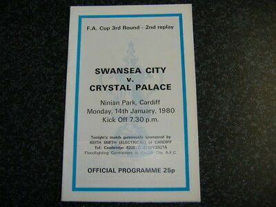 Swansea v Crystal Palace FAC Replay 1980 @Cardiff