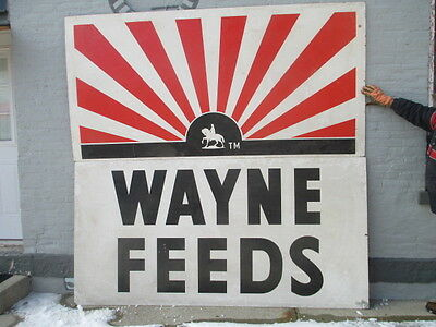 2 pcs. Original Wayne Feeds Sign Beautiful  * MONSTER 8 feet X 8 feet