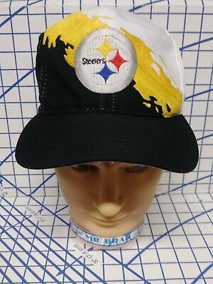 new style c0bc3 58560 ... promo code for vintage nfl pittsburgh steelers splash snapback hat logo  7 splash cap snap issue