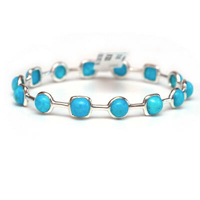fd768281162 IPPOLITA STERLING SILVER Lollipop Turquoise Bangle Bracelet NEW ...