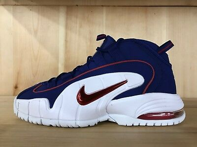 promo code 81671 8f483 Nike Air Max Penny 1 2 Cent Deep Royal Blue Red White Mens Size 8