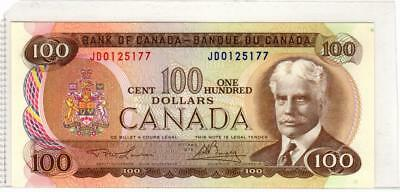 1975 Bank of Canada $100 Note p.91a - Uncirculated - Lawson-Bouey