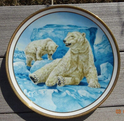 Polar Bear By Norman Adams - 1982 Lenox The American Wildlife Plate Collection