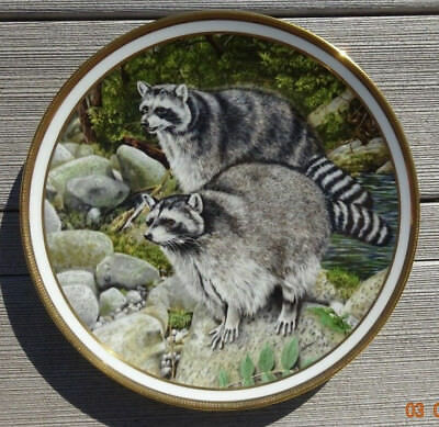Racoons By Norman Adams - 1982 Lenox The American Wildlife Plate Collection