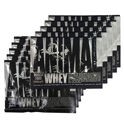 Universal Nutrition 4 Animal WHEY Protein & 2 Fury Single Serve Pouches + Funnel
