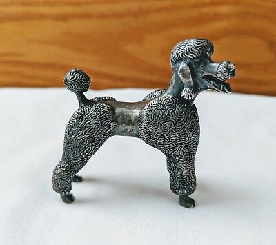 S. Kirk & Son Solid Sterling Silver Poodle Figurine 3.64 Troy oz.