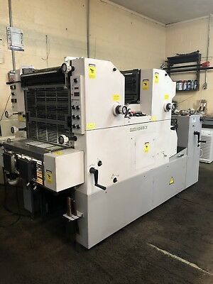 2002 Hamada H248CX Offset 2 Color Printing Press
