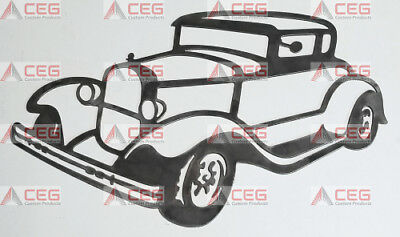 1937 Chevy Chevrolet coupe steel man cave garage art wall sign CNC plasma cut