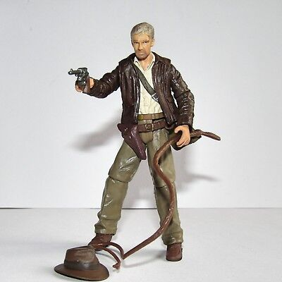 "Indiana Jones Movie (Harrison Ford) 3.75"" Toy Figure Whip, Fedora, Weapon & Bag"