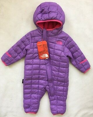 9deab4c0c THE NORTH FACE Infant Girls Thermoball Bunting Snowsuit NWT $120 3-6 MONTHS