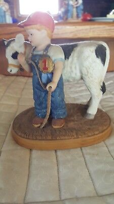 Country Store Little Farmer - Boy With Cow - Limited Edition 1983
