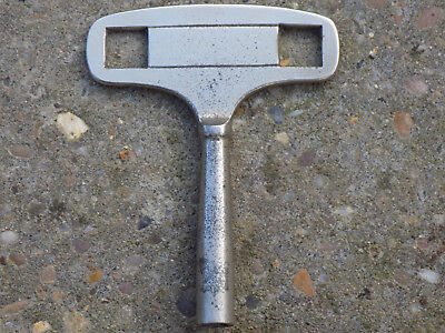 Vintage Solid Silver Coloured MANTEL/Carriage # 5mm Key Winder Square Hole 3""