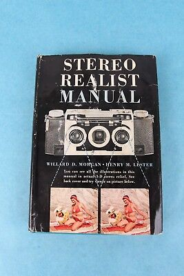 VINTAGE 1954 3d STEREO CAMERA REALIST MANUAL HARDCOVER BOOK W/GLASSES