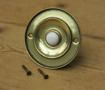 Vintage BRASS & CERAMIC Door Bell Push (READY TO FIT)