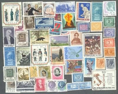 Italy - 500 all different stamps collection-inc. thematics