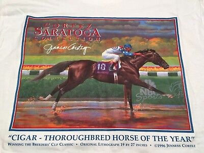 Horse Racing CORTEZ SARATOGA collection VINTAGE CIGAR 1996 BREEDERS CUP Size M