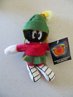 Looney Tunes Marvin the Martian Mini Bean Bag Doll 1999 Warner Brothers NEW