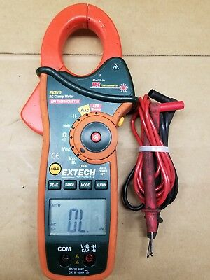 Extech Ex830 True Rms Ac/dc Clamp Meter Built In Ir Thermometer