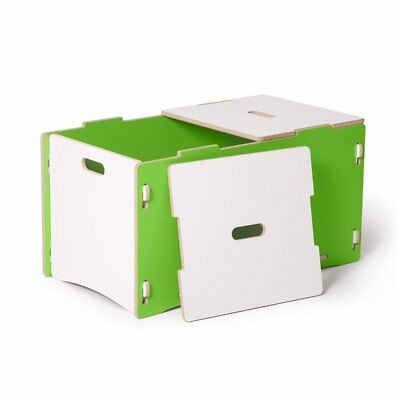 Toy Box, Green and White