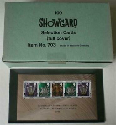 100 Showgard Selection Cards 3 x 6 No Strips Stamp Safe Storage Full Cover New