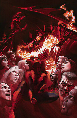 AMAZING SPIDERMAN 800 ALEX ROSS 1:500 Virgin Variant Red Goblin HTF NM