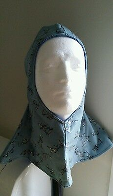 Welding hood 100% Cotton Drill Fabric. Custom Made.