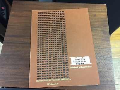 MARANTZ Original Model 1030 HANDBOOK OF INSTRUCTIONS Stereo Amplifier Manual