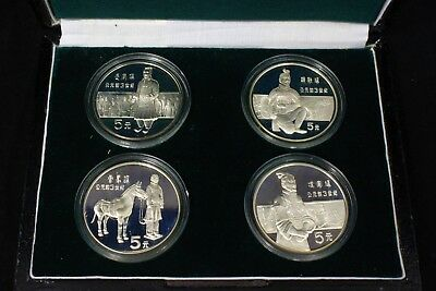 1984 People's Republic of China Four Terracotta Warriors Proof Silver Coin Set