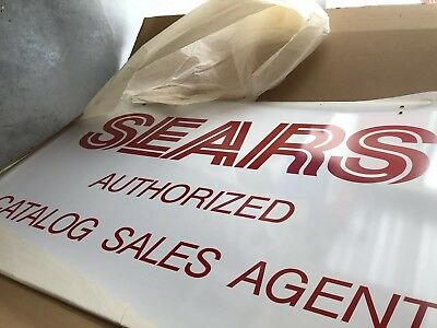 Vintage Metal Sears Sign / New Old Stock 1987