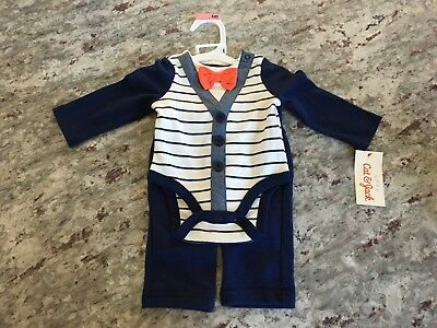 Cat & Jack Bowtie Outfit Newborn Baby Boy New With Tags