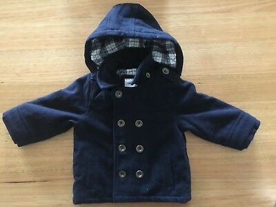 Warm Baby Duffle Coat - Mothercare - Pre-loved 12-18 Months - Navy Blue