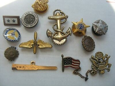Mixed Lot of  12 Vintage Medals WW2 vintage from estate propellers etc sterling