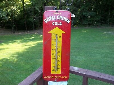 Original 1950S Royal Crown Cola Thermometer...works...