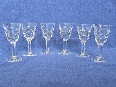 Waterford Tralee - 6 Rare Liqueur Glasses - Made in Ireland