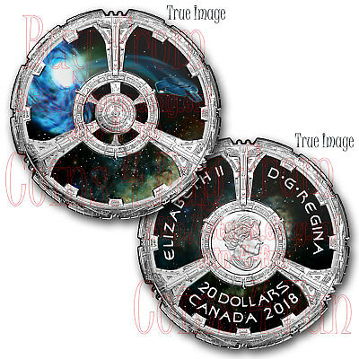 2018 Star Trek™ - Deep Space Nine - $20 Pure Silver Proof Coloured Coin - Canada