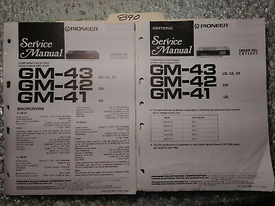 pioneer gm 4211 zm 02 service manual original repair book stereo amp rh picclick com