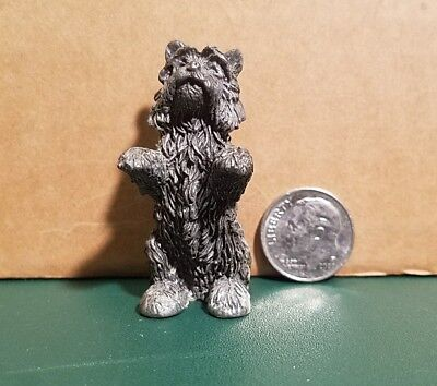 Pewter dog figurines