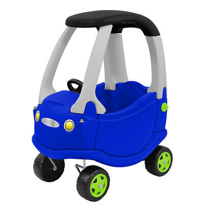 Kids 85cm Go Buggy Car/Quad Bike Push Ride On/Toddler/Indoor/Outdoor Toy Blue