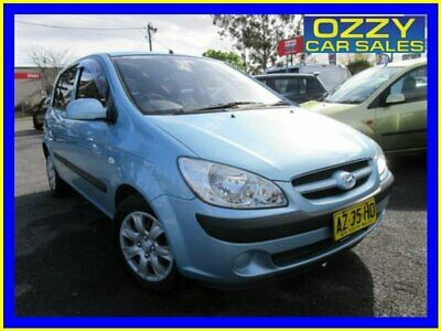 2008 Hyundai Getz TB Upgrade SX Blue Manual 5sp M Hatchback