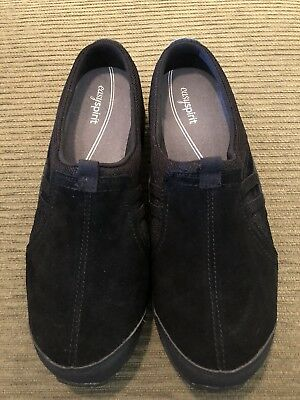 Easy Spirit Travel Time Slip On Black Athletic Mules Brand New! $69.00 Retail