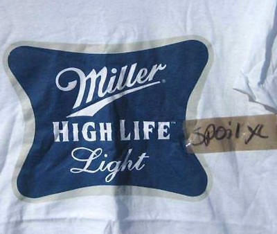 new MILLER HIGH LIFE LIGHT T-shirt (XL) *spoil*  miller lite Beer Xlarge MHL #1