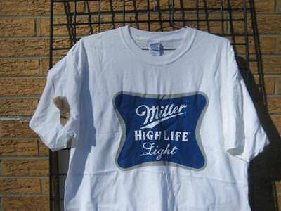 new MILLER HIGH LIFE LIGHT T-shirt (XL) *FLAW*  miller lite Beer Xlarge MHL #3