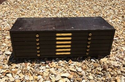 C&E Marshall Co Watchmaker Parts Metal Cabinet by Marco