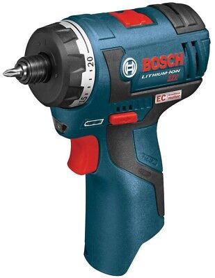 Pocket Driver Kit Bosch 12 Volt Cordless Electric 1/4 in Hex 2-Speed Lithium Ion