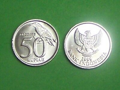 Indonesia   1999  50 Rupiah   Km60   Uncirculated From Mint Roll
