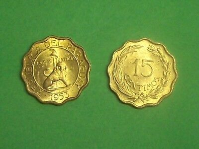 Paraguay 1953  15 Centimos  Km26  Uncirculated
