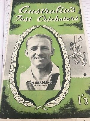 Don Bradman's Invincibles Tour 1948 Program Beautiful Condition 15 Photos