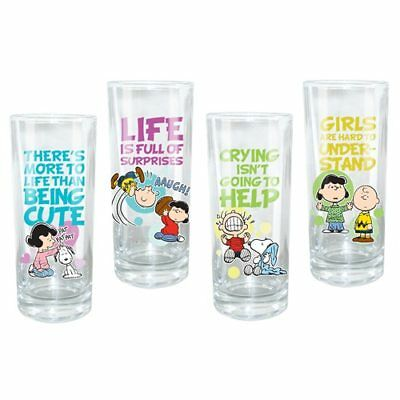 Peanuts 10-ounce Glasses 4-Pack