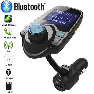 Wireless In-Car Bluetooth FM Transmitter MP3 Radio Adapter USB Charger for Phone
